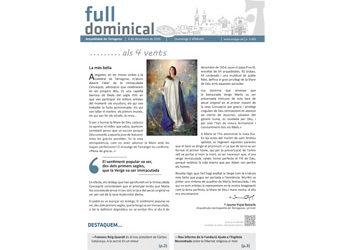 Full Dominical n. 3482 / 4 desembre 2016