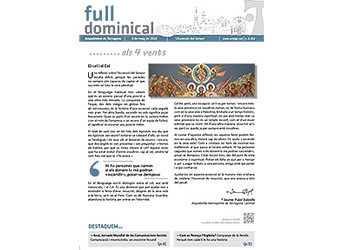 Full Dominical n. 3452 / 8 maig 2016