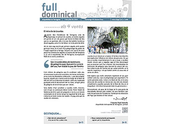 Full Dominical n. 3460 / 3 juliol 2016