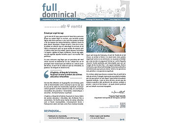 Full Dominical n. 3462 / 17 juliol 2016