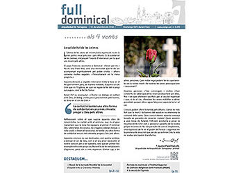 Full Dominical n. 3470 / 11 setembre 2016