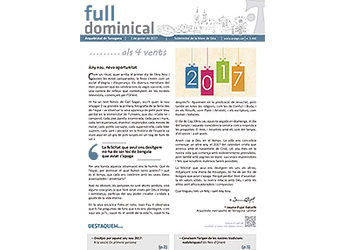 Full Dominical n. 3486 / 01 gener 2017