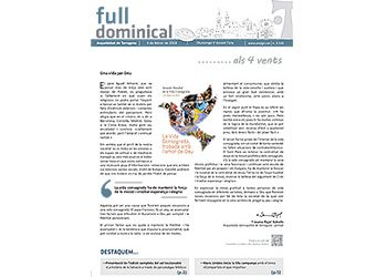 Full Dominical n. 3543 / 04 febrer 2018