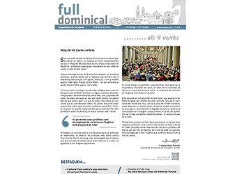 Full Dominical n. 3555 / 29 abril 2018