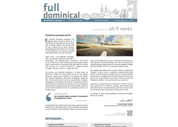 Full Dominical n. 3559 / 27 maig 2018
