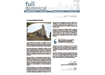 Full Dominical n. 3572 / 26 agost 2018