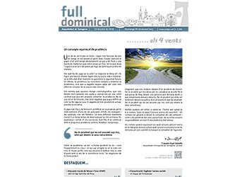 Full Dominical n. 3566 / 15 juliol 2018