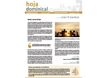 Hoja dominical n. 3596 / 10 febrero 2019