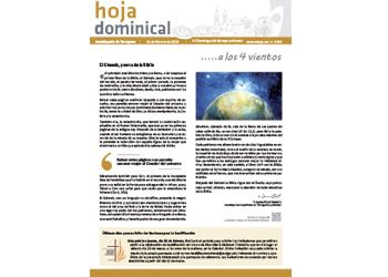 Hoja Dominical n. 3598 / 24 febrero 2019