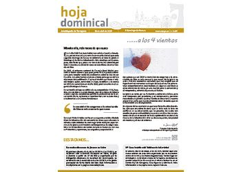 Hoja Dominical n. 3607 / 28 abril 2019
