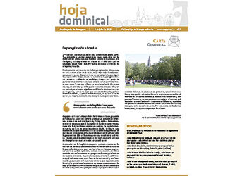 Hoja Dominical n. 3617 / 7 de julio de 2019