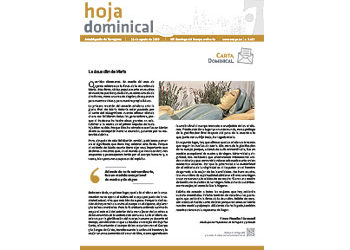 Hoja Dominical n. 3622 / 11 agosto 2019