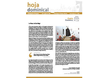 Hoja Dominical n. 3623 / 18 agosto 2019