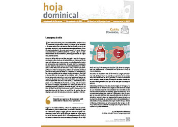 Hoja Dominical n. 3625 / 01 septiembre 2019
