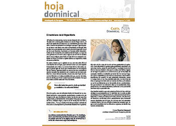 Hoja Dominical n. 2626 / 08 septiembre 2019