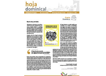 Hoja Dominical n. 3631 / 20 octubre 2019