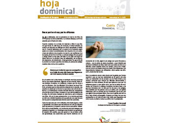 Hoja Dominical n. 3633 / 27 octubre 2019