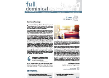 Full Dominical n. 3638 / 01 desembre 2019