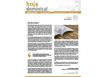 Hoja Dominical n. 3635 / 10 noviembre 2019