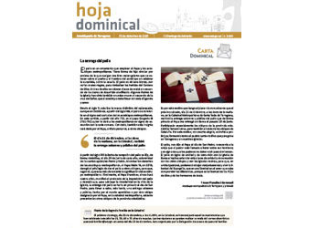Hoja Dominical n. 3640 / 15 diciembre 2019