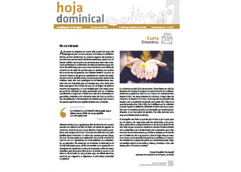 Hoja Dominical n. 3643 / 05 enero 2020