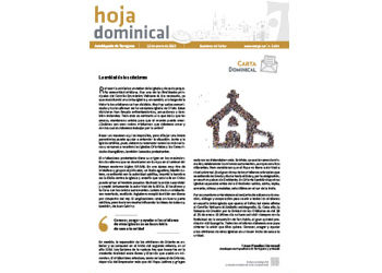 Hoja Dominical n. 3644 / 12 enero 2020
