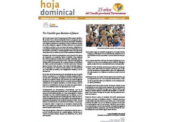 Hoja Dominical n. 3645 / 19 enero 2020