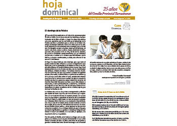 Hoja Dominical n. 3646 / 26 enero 2020