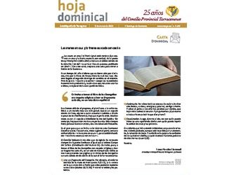 Hoja Dominical n. 3652 / 8 marzo 2020