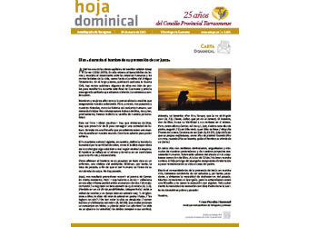Hoja Dominical n. 3655 / 29 marzo 2020