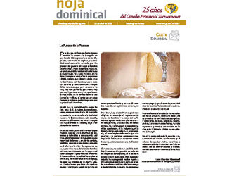 Hoja Dominical n. 3657 / 12 abril 2020