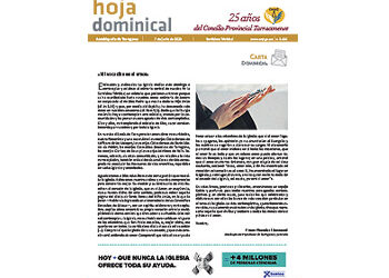 Hoja Dominical n. 3665 / 07 junio 2020