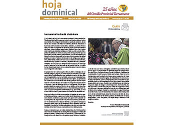 Hoja Dominical n. 3668 / 28 junio 2020