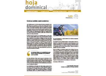 Hoja Dominical n. 3673 / 2 agosto 2020