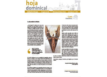 Hoja Dominical n. 3674 / 9 agosto 2020