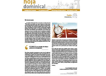 Hoja Dominical n. 3678 / 6 septiembre 2020