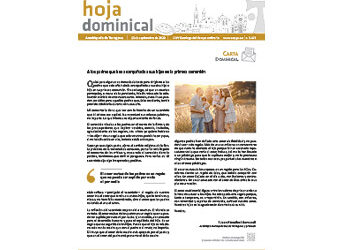 Hoja Dominical n. 3679 / 13 septiembre 2020