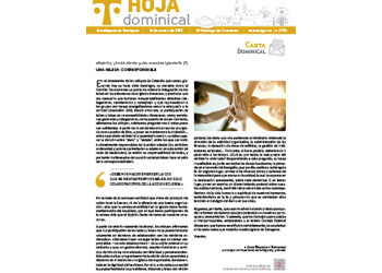 Hoja Dominical n. 3705 / 14 marzo 2021