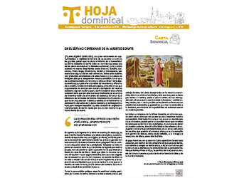 Hoja Dominical n. 3730 / 5 septiembre 2021